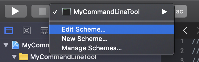 Edit Scheme Option